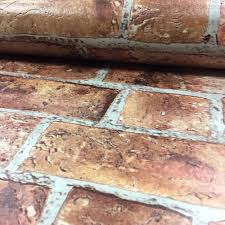 details about thick heavy textured red brick bathroom kitchen wallpaper urban old rustic