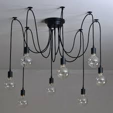 pendant light chandelier modern retro bulb light chandelier vintage loft antique adjule art spider pendant lamp