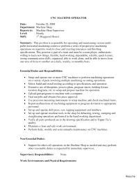 Assembler Job Description For Resume Assistant Manager Automotive Professional 100 Cnc Operator Resume 93