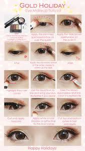 description gold holiday eye makeup tutorial