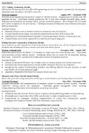 Engineering Resumes Samples Simple Network Engineer Resume Sample Medical Records Corporation Free