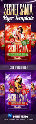 secret santa party flyer template by themediaroom graphicriver secret santa party flyer template clubs parties events