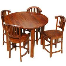 Collection by round tables design. 5 Pc Contemporary Counter Height Round Dining Table And Chair Set