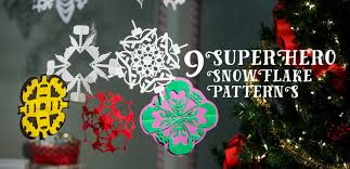 Snowflake Patterns New 48 Superhero Snowflake Patterns [Free Printables] Fun Blog