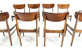 mid century walnut dining chairs set of ten walnut dining chairs danish mid century modern at mid century walnut dining chairs