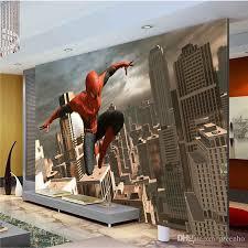 spiderman wall mural superhero photo