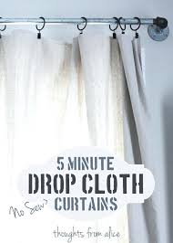 diy drop cloth curtains stylish canvas drop cloth curtains and 5 minute no sew drop cloth