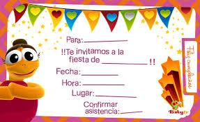 Tajetas De Cumpleanos Babytv Invitaciones De Cumpleaños
