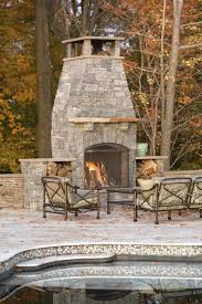 outdoor fireplace plans diy free patio traditional with chimney hood logs mantel