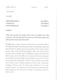 full charge sheet pravin gordhan accused of fraud fin full charge sheet pravin gordhan accused of fraud