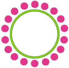 Items similar to Machine embroidery design for a circle border