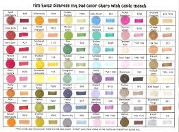 Tim Holtz Ink Chart 2019