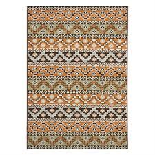safavieh ver095 0752 terracotta and chocolate veranda indoor outdoor rug