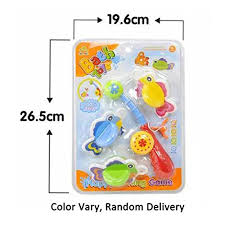 hmilydyk 4 pcs set bath toy fishing game with cute spotted fish and fishing rod best