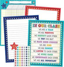 Amazon Com Marquee Classroom Essentials Chart Pack