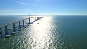 Sunshine Skyway Bridge Tampa Bay Florida Shot With A Drone