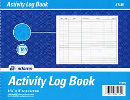Activity Log Book Barca Fontanacountryinn Com