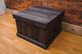 wooden chest trunk coffee table bench