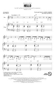 hello free piano sheet music hello arr mac huff choral sab sheet music by by adele sab 162399
