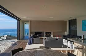 modern wood and glass australian beach