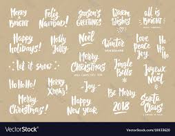 Holiday Greetings Quotes Gorgeous Set Of Holiday Greeting Quotes And Wishes Hand Vector Image