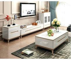 minimalist designer wooden panel stand modern living room coffee table led monitor cabinet mesa tv tables