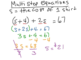 multiple step equations worksheetulti with fractions and decimals variables on both sides kuta