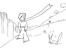 Disegno Di Il Piccolo Principe Incontra La Volpe Da Colorare