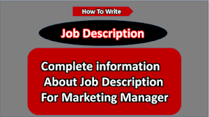 Roles Of A Sales And Marketing Manager Importance Of Job Description For Marketing Manager Histories