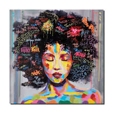 crescent art women black art african american paintings wall art canvas prints for living room wall decor p633 in painting calligraphy from home