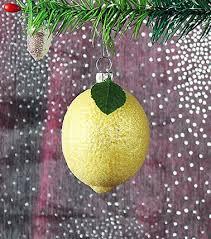 Zitrone Mit Glitzer Ca 7cm Christbaumschmuck Aus Glas Mundgeblasen Und Handbemalt