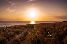 Image result for cloudy sunset ocean