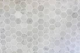 marble hexagon tile. How To Install A Marble Hexagon Tile Backsplash | JustAGirlAndHerBlog.com R