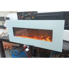 50 inch wall mounted electric fireplace with flat tempered glass
