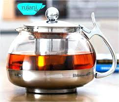 stove top teapot glass tea kettle medium image for spout with heat resistant infuser whistling cup