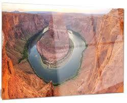 horseshoe bend arizona panorama metal