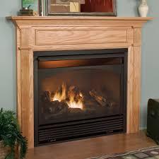 image of modern ventless gas fireplace insert