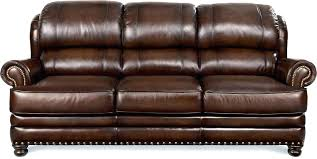 lazy boy leather furniture decor of sofa traditional with turned arms couch polish brown