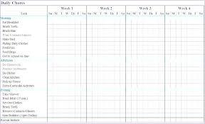 Roommate Chore Chart Template Free Printable Chore Chart
