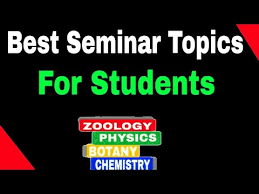 Best Seminar Topics For Science Students Youtube