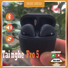 Tai Nghe Bluetooth Airpods Pro 5 Black,Tai Nghe Pro 5 Không Dây Cao Cấp Lỗi  1 Đổi 1,Pro 5 Đen Cao Cấp -Blueshop6688 | Tai Nghe Có Dây Nhét Tai