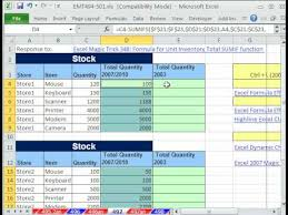 Excel Magic Trick 497 Unit Inventory Total For Each Store Sumifs Or Sumproduct Functions