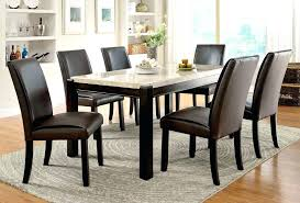 marble top dining table and chairs 7 pc marble top dining table 6 black parson chairs