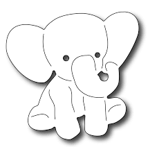 Baby Elephant Template Baby Elephant Stencil Free Download Clip Art Carwad Net