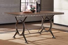 counter height dining table. Hillsdale Paddock Counter Height Dining Table - Brushed Steel Metal/Distressed Brown V