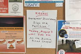 Petition Office Almost 70 Unalaskans Sign Petition To Recall Dunleavy From