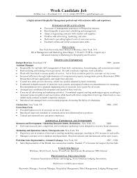 Hospitality Resume Example Www Fungram Co Chic Hotel Job Examples