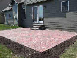 brick paver patio landscaping around patio
