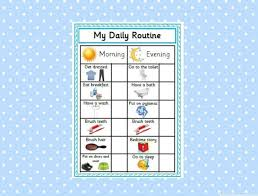 Daily Routine Chart Printable Daily Routine Chart Blue Reward Chart Morning Routine Evening Routine Behaviour Management Sen Autism Instant Download