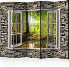 Murando Raumteiler Fensterblick Fenster Landschaft Landschaft